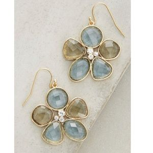 Anthropologie Meadow Flower Drop Earrings